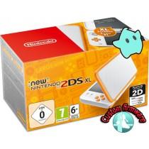 Nintendo 2DS XL console omgebouwd - Wit/Oranje