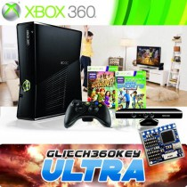Xbox360 Deluxe Pakket Super Glitchchip ultimate + 500 gig hdd